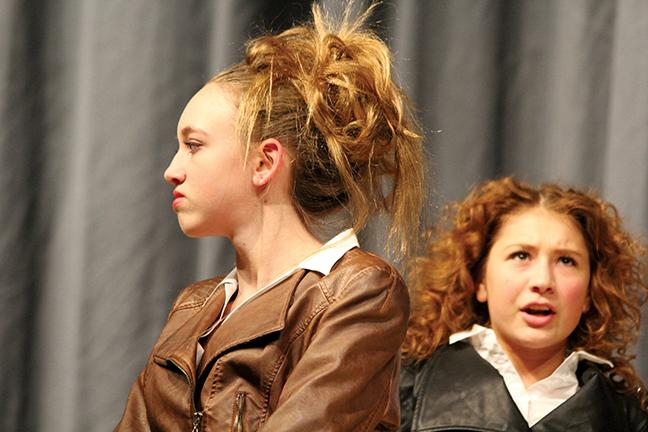 Alexandria Rinnie and Anna Jones perform as Rosencrantz and Guildenstern in Tom Stoppard's