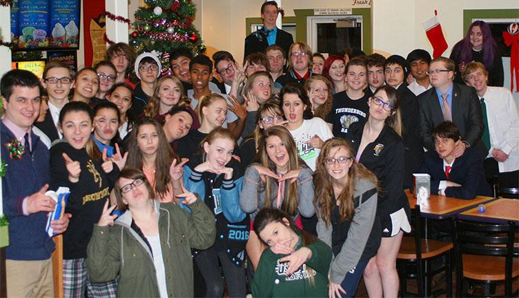 East's speech and debate team celebrates afer taking second place at the Green River Sweepstakes. If you have any questions or want to compete with speech and debate contact Mr. Viney or Mr. Prevedel