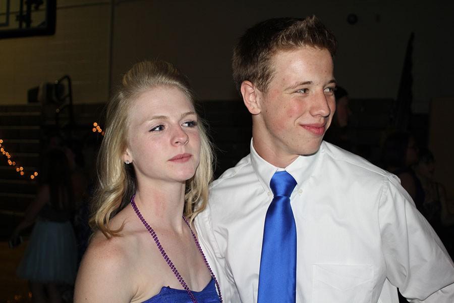Trenton Eldridge and Taylor Stokes enjoy the night on the dance floor during homecoming.