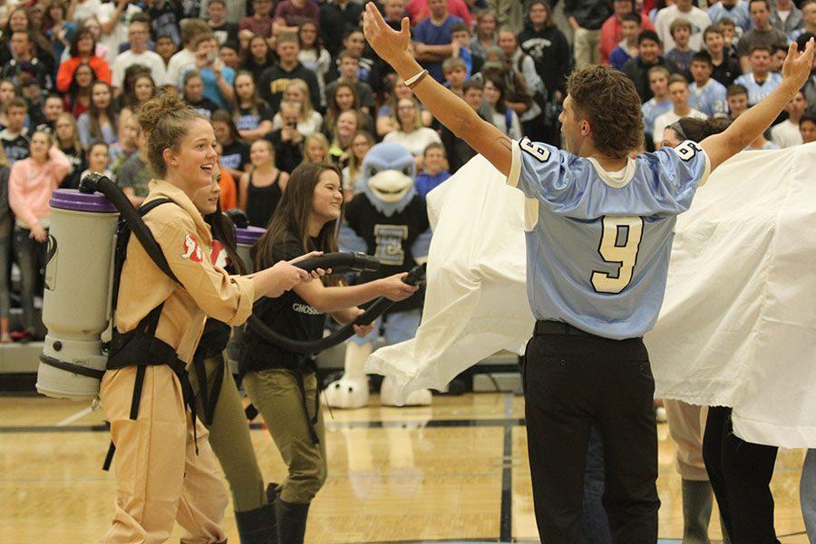 Braden Morris, Sierra Stellern, and the Senior Court embrace their inner Ghostbuster's and defeat the Plainsmen ghosts.