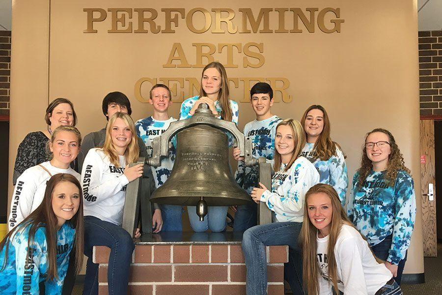 East High student council poses at the end of WASC in November, held at Central High.