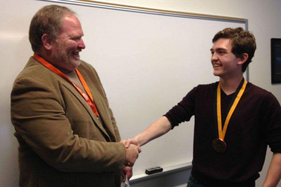 Senior Liam Guille earned the Prudential Spirit of Community Award for raising $3,300 to help an orphan girl in China receive a life-saving heart surgery.