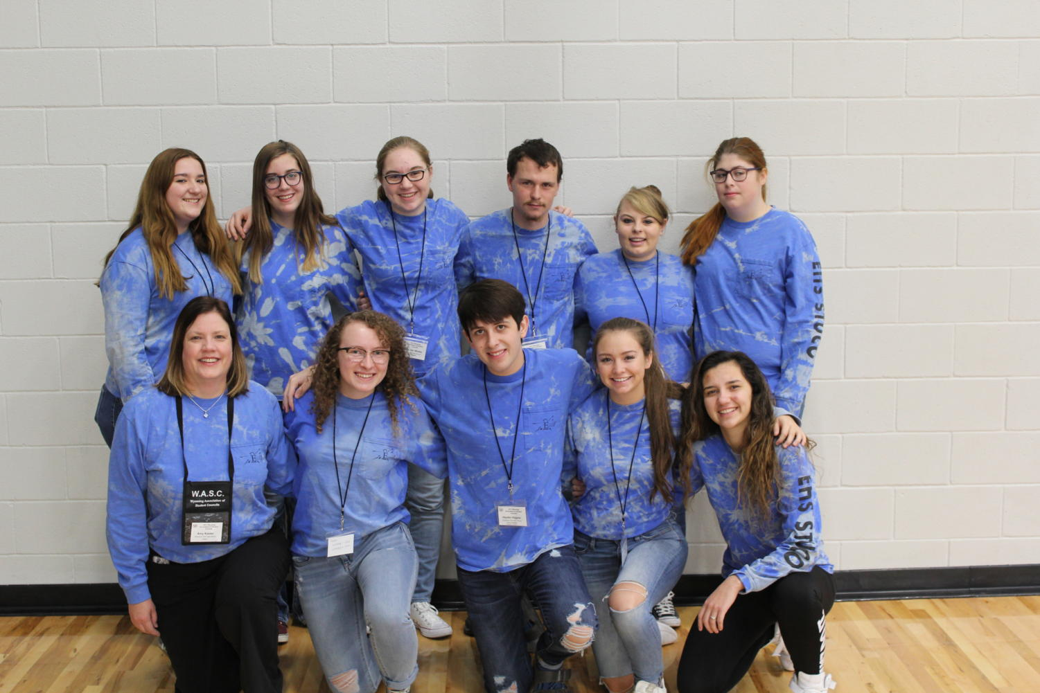 The Thunderbird Student Council represent in their East High Blue at the 63rd annual Wyoming State Student Council Convention.