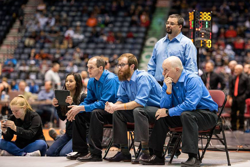 Coach Thad Trujillo and his coaches remain calm even when things weren't going perfectly. While four EHS wrestlers competed for individual titles, no one was able to finish on the positive side. The team did win the state title, their first since 1965.