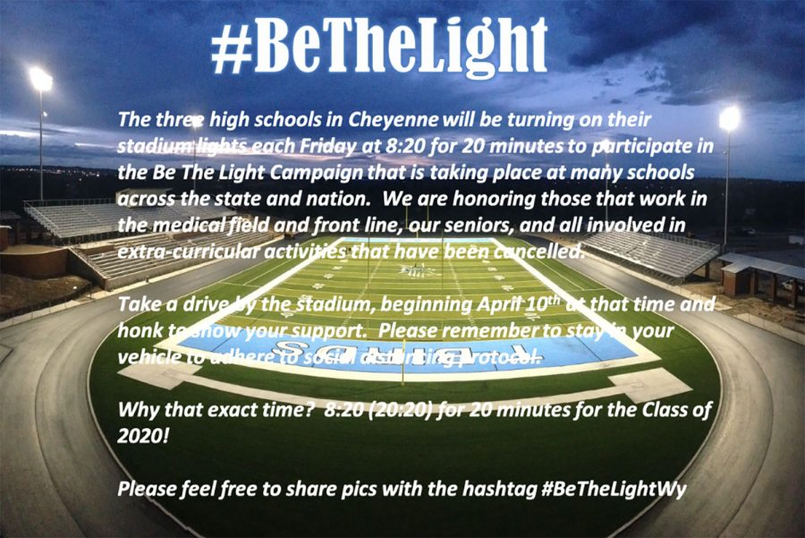 Athletic Director Jerry Schlabs ran a social media campaign to promote #BeTheLight.