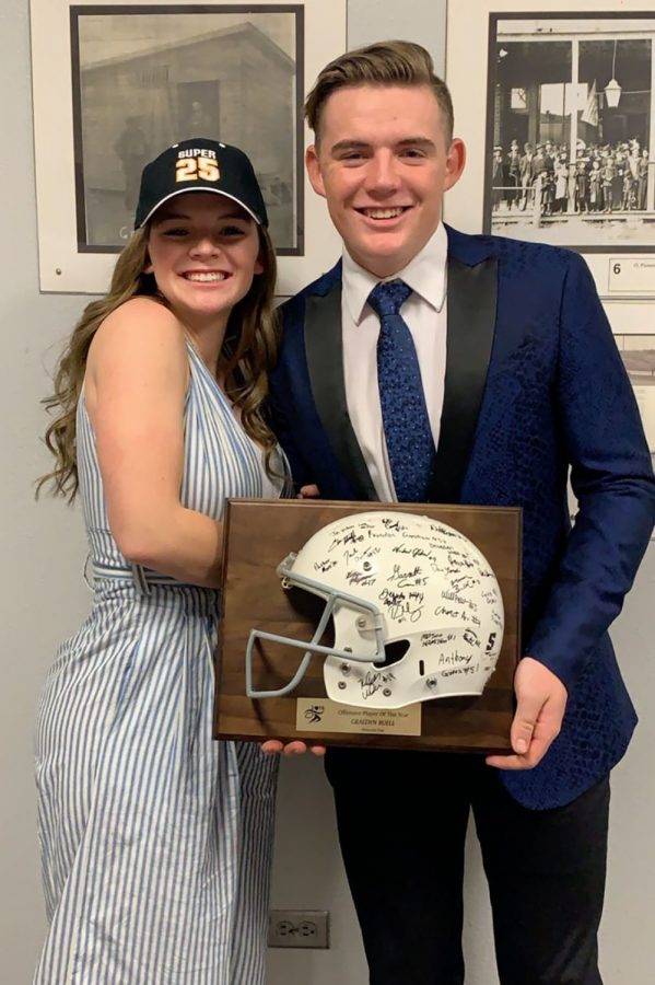 Makylee+congrats+little+brother+Graedyn+on+his+2019+Super+25+Offensive+Player+of+the+Year.