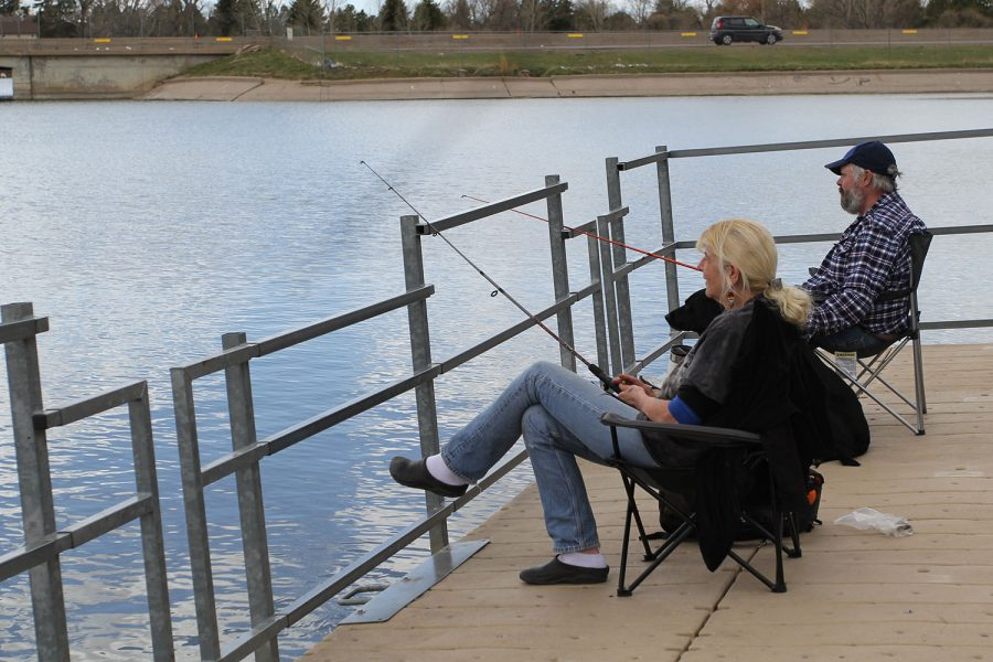 With the Covid-19 quarantine, there's not much to do. To help pass the time, a Cheyenne couple took their dog to Lion's Park and dropped a line in the hopes of catching a few fish.