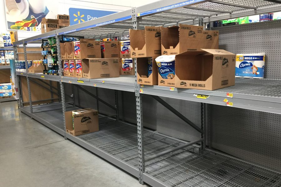 When word of the arrival of Covid-19 was made public, many pepple went into hoard mode and emptied store shelves of toilet paper and other essentials.