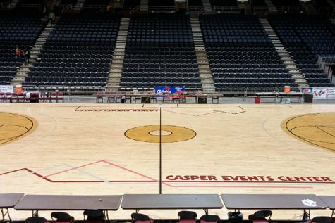 After one game, the WHSAA shut down the Class 3A/4A basketball tournament at the request of the Natrona County Department of Health.