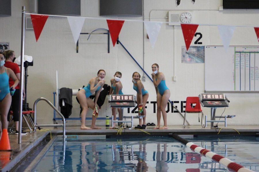 Swimmers stick together for success